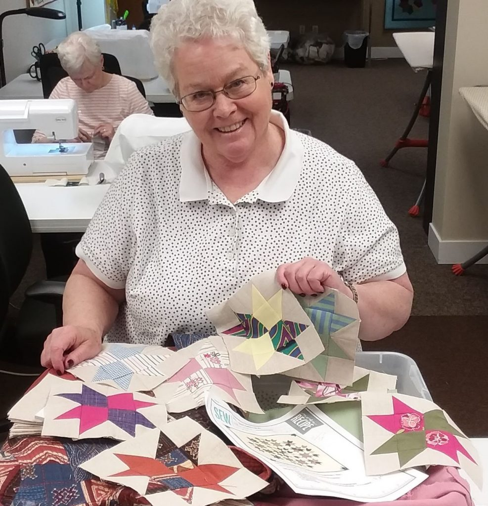 Volunteer Spotlight: Making a Memory Quilt for Mom